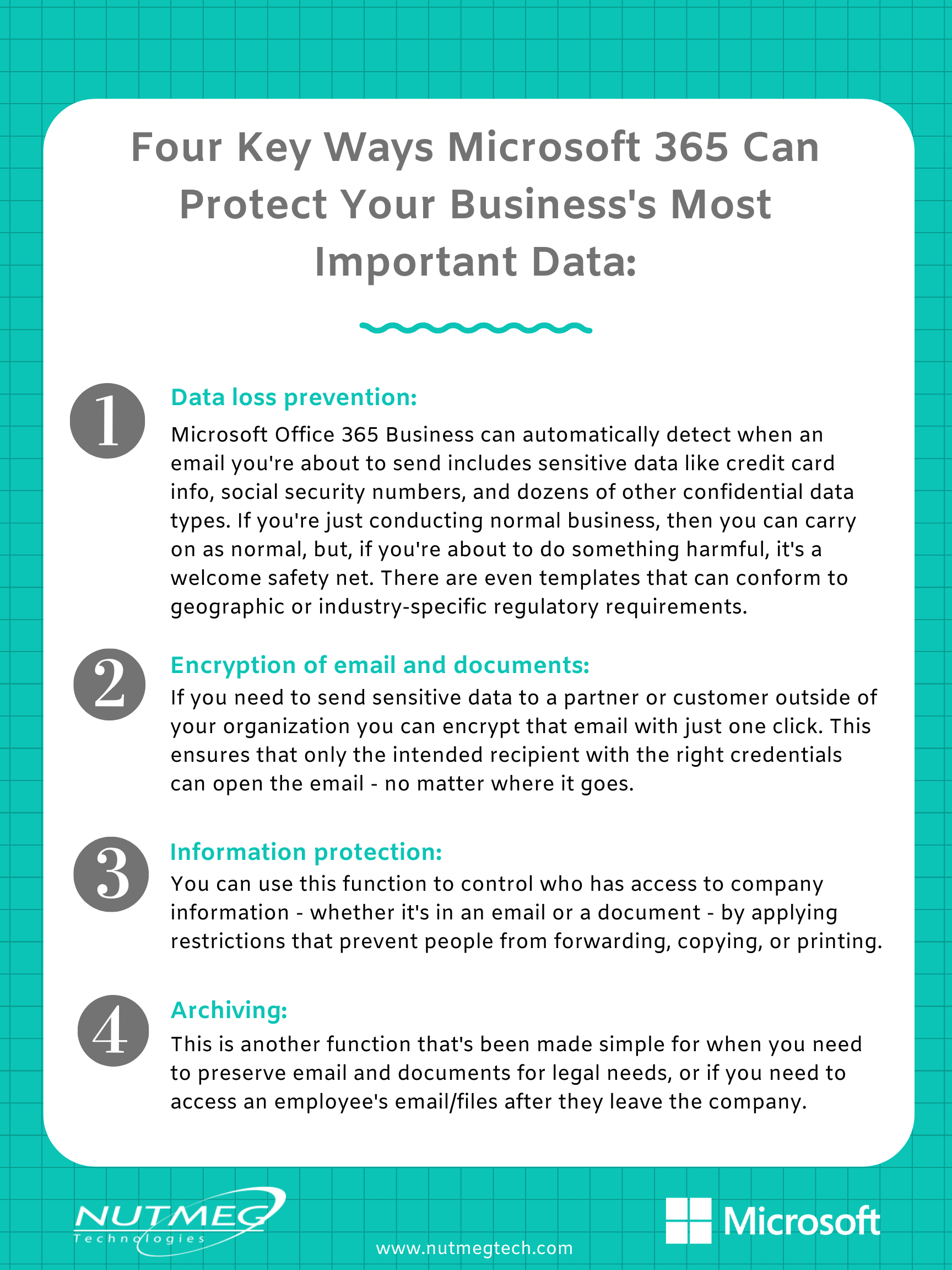 4 Key ways Microsoft 365 can protect your business's most important data