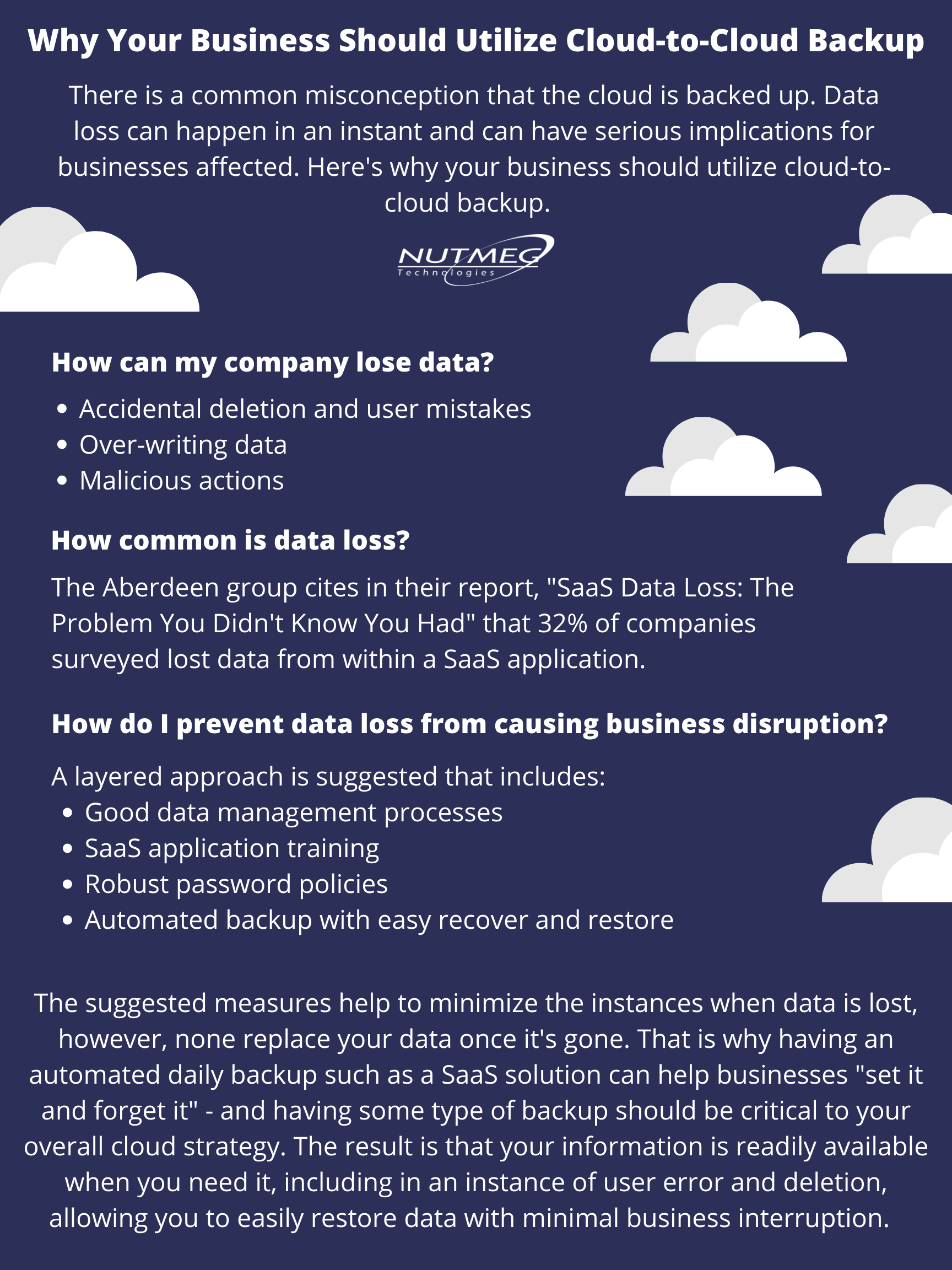 Why your business should utilize cloud to cloud backup