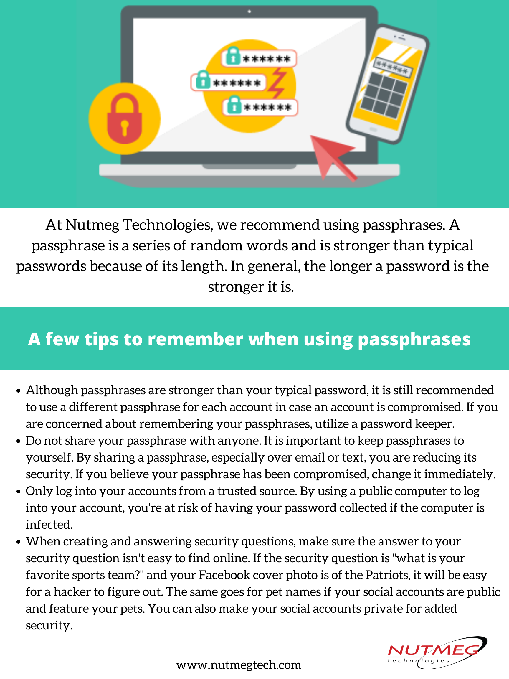 A few tips to remember when using passphrases
